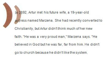 Artur and Marzana Caption